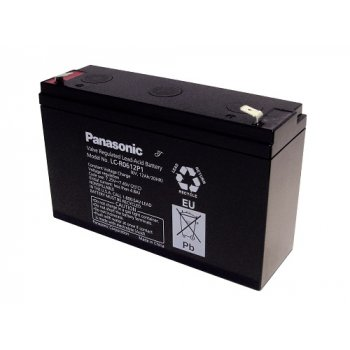 Panasonic LC-R0612P1 (6V; 12Ah; faston 6,3mm; životnost 6-9let) SLA