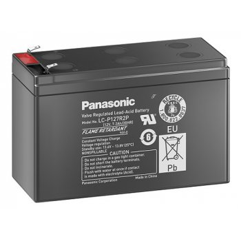 Panasonic LC-P127R2P1 (12V; 7,2Ah; faston 6,3mm; životnost 10-12let) SLA