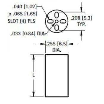 Keystone 8900 patice pro LED diodu - Keystone 8900 obrazek