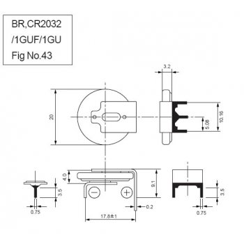 Panasonic CR-2032-1GUFE - vývody