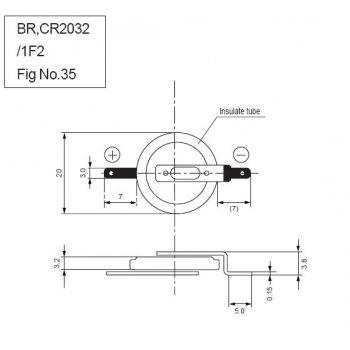 Panasonic CR-2032/F2N - jiné značení