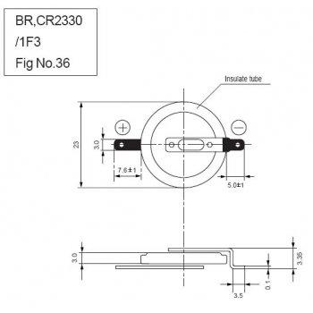 Panasonic CR-2330/F3N (lithiová; knoflíková; 3V) - jiné značení