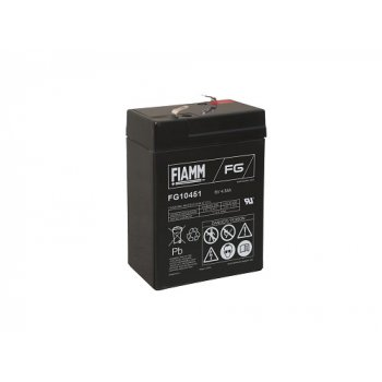 Fiamm FG10451 (6V; 4,5Ah; faston F1-4,7mm; životnost 5let)