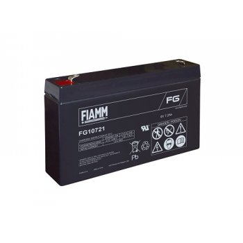 Fiamm FG10721 (6V; 7,2Ah; faston F1-4,7mm; životnost 5let)