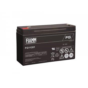 Fiamm FG11201 (6V; 12Ah; faston F1-4,7mm; životnost 5let)