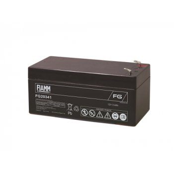 Fiamm FG20341 (12V; 3,4Ah; faston F1-4,7mm; životnost 5let)