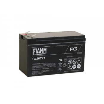 Fiamm FG20721 (12V; 7,2Ah; faston F1-4,7mm; životnost 5let)