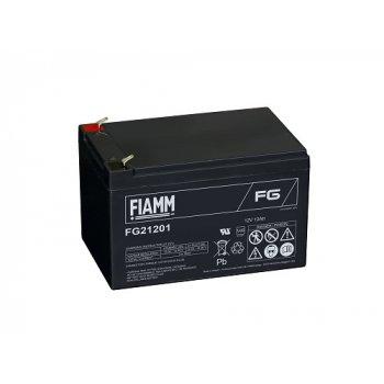 Fiamm FG21201 (12V; 12Ah; faston F1-4,7mm; životnost 5let)