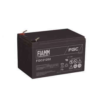 Fiamm FGC21202 (12V; 12Ah; faston 6,3mm; cyklická) SLA