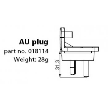 Mascot Plug 018114 (Typ AC adapter AU)