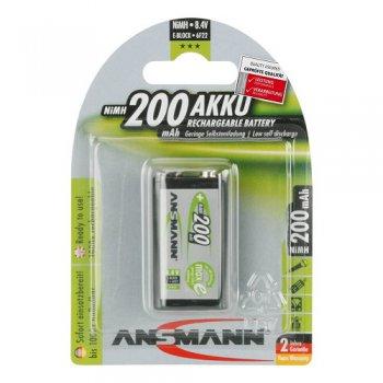 Ansmann 9V-Block E 200mAh maxE (NiMH; 6F22; 200mAh; BL1)
