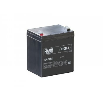 Fiamm 12FGH23 (12V; 5Ah; faston F2-6,3mm; životnost 5let)