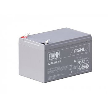 Fiamm 12FGHL48 (12V; 12Ah; faston 6,3mm; životnost 10let) SLA