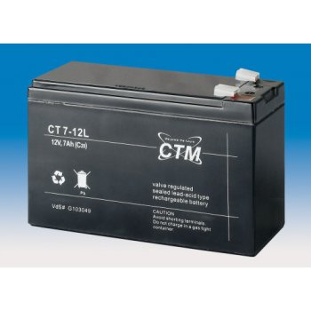 CT 12-7L (12V; 7Ah; faston F2-6,3mm; životnost 5let)