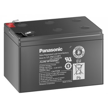 Panasonic LC-PA1212P1 (12V; 12Ah; faston 6,3mm; životnost 10-12let) SLA
