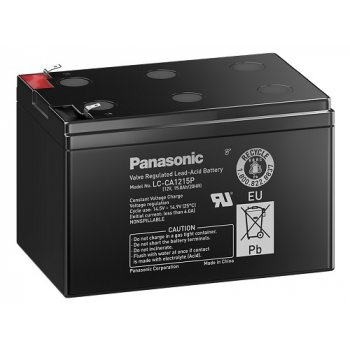 Panasonic LC-CA1215P1 (12V; 15Ah; faston 6,3mm; cyklická) SLA