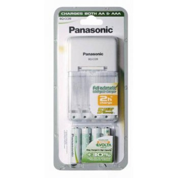 Panasonic BQ-CC09E+ 4xAA 1900 mAh NiMH EVOLTA nabíječka