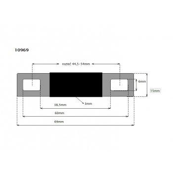 CTM Flachverbinder 44 rozteč 44,5-54mm
