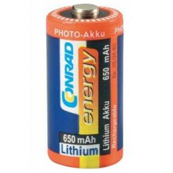 Conrad CR123A Li-ion 3V/650 mAh nabíjecí baterie 1ks