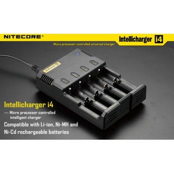 NITECORE NEW i4  inteligentní nabíječka 4x, Li-Ion, Ni-MH, Ni-Cd
