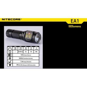 NITECORE EA1 outdoor svítilna, CREE XP-G R5 180lm,1xAA - obrázek1