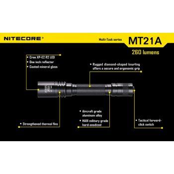NITECORE LED taktická svítilna MT21A - 260lm, 2xAA