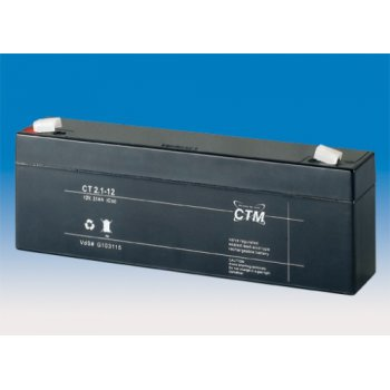 CT 12-2,1 (12V; 2,1Ah; faston F1-4,7mm; životnost 5let)