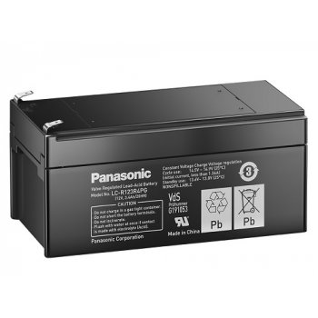 Panasonic LC-R123R4PG (12V; 3,4Ah; faston F1-4,7mm; životnost 6-9let)