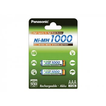 Panasonic BK-4HGAE/2BE AAA typ 1000mA 2ks