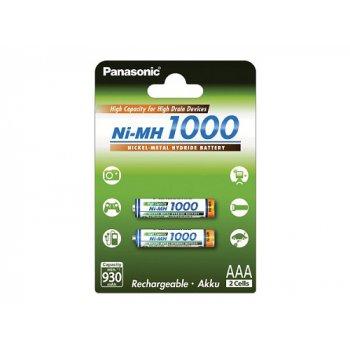Panasonic BK-4HGAE/2BE AAA typ 1000mAh (NiMH; AAA; HR03; 1,2V; min.930mAh; BL2)