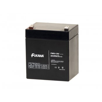 FUKAWA FW 5-12 U (12V; 5Ah; faston F2-6,3mm; životnost 5let)