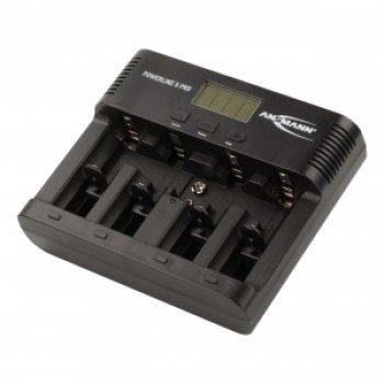 Ansmann POWERLINE 5 Pro (nabíječka; NiMh/NiCd; 1-4x AA/AAA/C/D; 1x 9V; LCD)