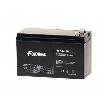 FUKAWA FW 7,2-12 F1U (12V; 7,2Ah; faston F1-4,7mm; životnost 5let)