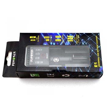 Nabíječka E1 1x Li-ion//LiFe/Ni-MH/Ni-Cd napájení z USB