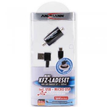 Ansmann USB autonabíječka 1A + Micro USB Kabel - foto2