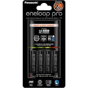 Panasonic BQ-CC55E + 4x AA 2500mAh NiMH Eneloop Pro (nabíječka; NiMH/NiCD; 1-4x AA/AAA; max.3200mA) - foto1
