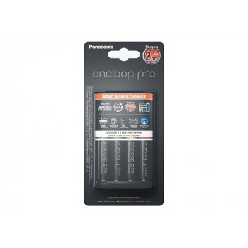 Panasonic BQ-CC55E + 4x AA 2500mAh NiMH Eneloop Pro (nabíječka; NiMH/NiCD; 1-4x AA/AAA; max.3200mA) - foto2