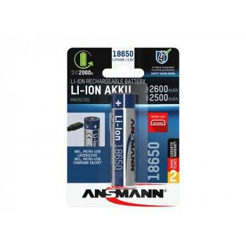Ansmann Li-ion 18650 2600 s nabíjecí elektronikou