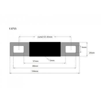 CTM Flachverbinder 70s/80 Ah rozteč 63-83mm