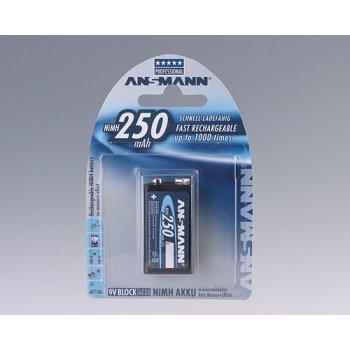 Ansmann 9V E-block NiMH 1x9V nabíjecí baterie 250mAh