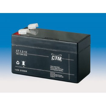 CT 12-1,2 (12V; 1,2Ah; faston F1-4,7mm; životnost 5let)