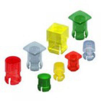 Keystone 8656  krytka na LED diodu, kruhová RED - Keystone led lens caps obrazek