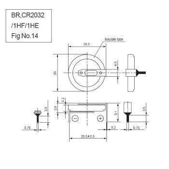 Panasonic CR-2032/HFN - jiné vývody