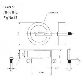 Panasonic CR-2477/HFN - jiné značení