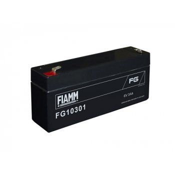 Fiamm FG10301 (6V; 3Ah; faston F1-4,7mm; životnost 5let)