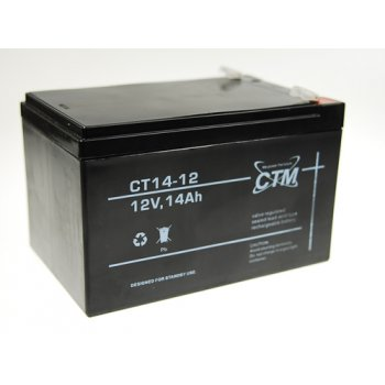 CT 12-14 (12V; 14Ah; faston F2-6,3mm; životnost 5let)