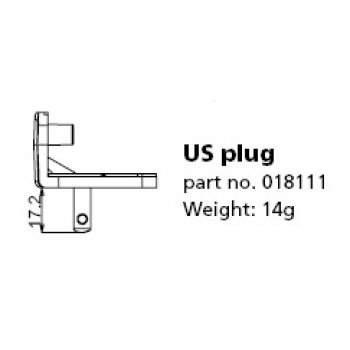 Mascot Plug 018111 (Typ AC adapter US)