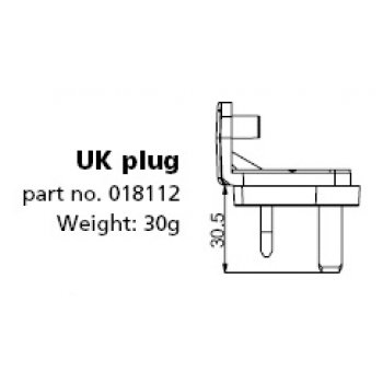 Mascot 018112 AC Plug adapter UK