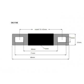 Spojka pružná pro 65 - 100Ah rozteč 55-65mm