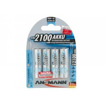 Ansmann Mignon 2100mAh maxE (NiMH; AA; HR6; 1,2V; 2100mAh; BL4)